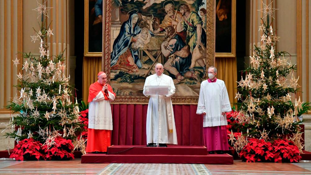 Papa Francisco pide en su mensaje de Navidad que todos tengan acceso a vacuna contra COVID-19 - Foto de EFE