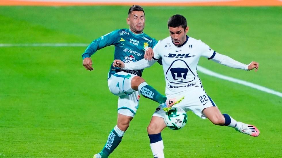 Pumas y León empatan la ida de la Gran Final del Guard1anes 2020 - Partido de ida entre Pumas y León. Foto Twitter @PumasMX