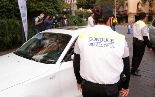 Arranca en Ciudad de México alcoholímetro decembrino; operará las 24 h - Programa Conduce sin Alcohol en CDMX. Foto de SSC-CDMX