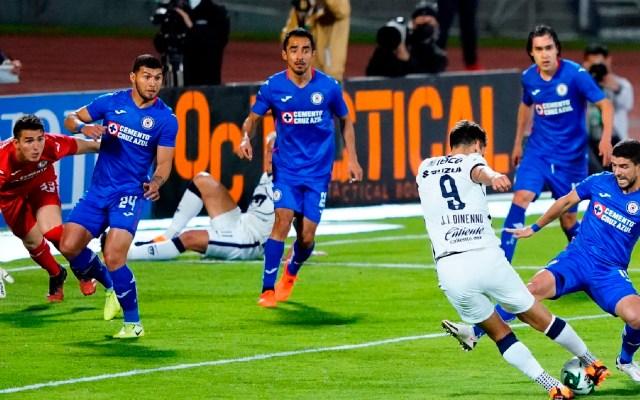 Así se jugará la Final de la Liga MX - Cruz Azul visitó a los Pumas en el estadio Olímpico Universitario. Foto Twitter @PumasMX