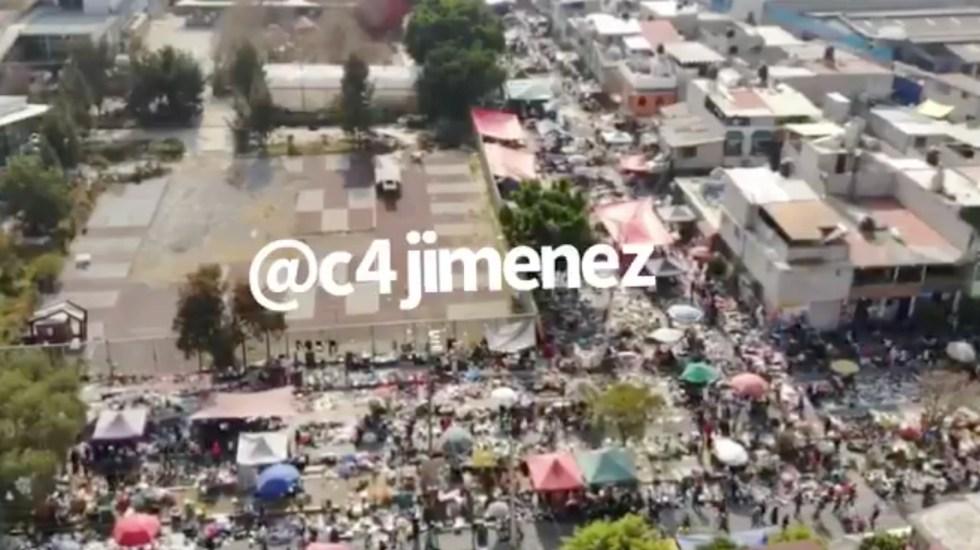 #Video Tianguis de Iztapalapa registra aglomeraciones pese a Semáforo Rojo por COVID-19 en CDMX - Foto de @c4jimenez