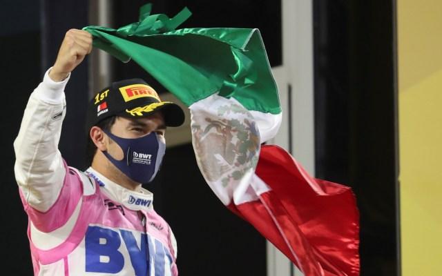 Victoria de 'Checo' Pérez, acontecimiento deportivo en México de 2020 - 'Checo' Pérez ganó el Gran Premio de Sakhir, su primera victoria en la F1 y su podio número 10. Con su triunfo es también la primera vez que México obtiene un campeonato mundial en 50 años. Foto de EFE