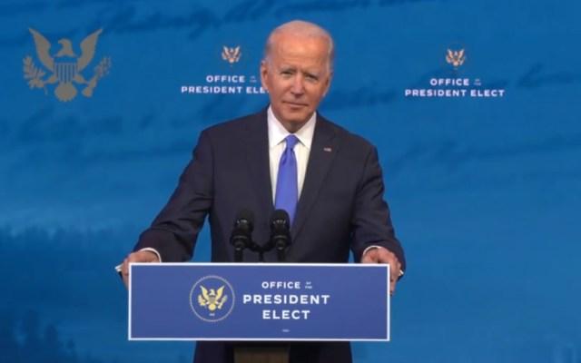 Pide Joe Biden transición pacífica del poder en EE.UU.; reitera que será presidente para todos los estadounidenses - Joe Biden