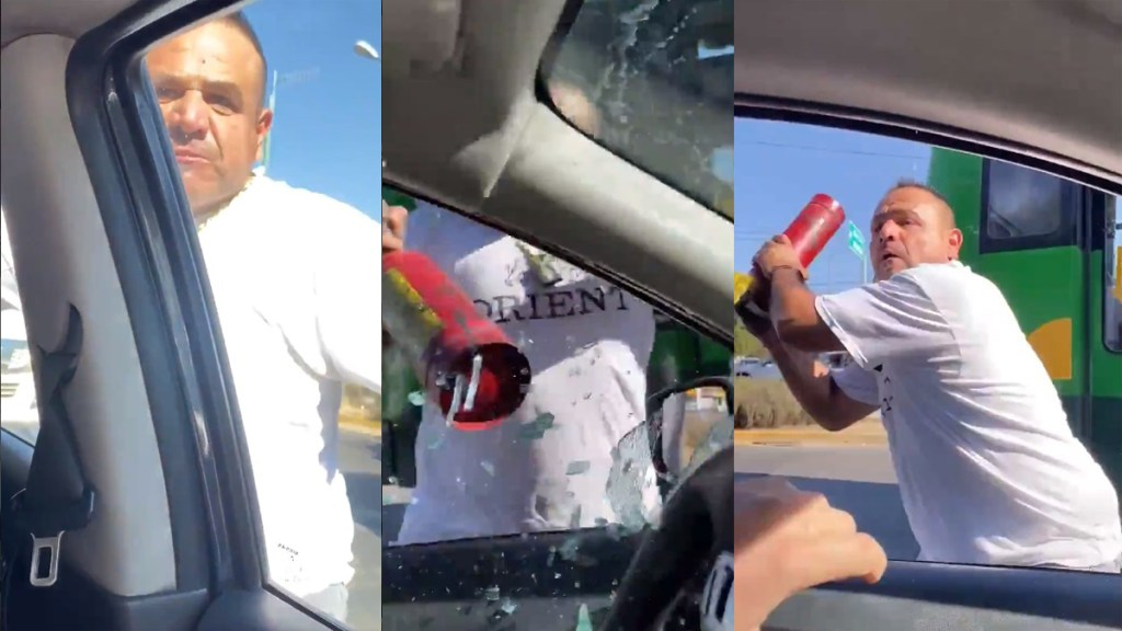 #Video Agrede chofer del transporte público a conductor tras reclamo por tirar basura - Agresión a automovilista en Zapopan, Jalisco. Captura de pantalla