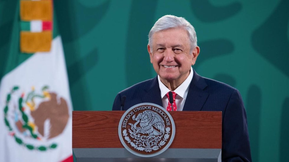 Falso que López Obrador haya sido hospitalizado por COVID-19. Permanece en Palacio Nacional - El presidente, Andrés Manuel López Obrador. Foto de lopezobrador.org.mx