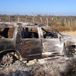 ONU-DH compara hallazgo de 19 cuerpos calcinados con masacre de San Fernando - Camioneta con cuerpos calcinados hallada por la Fiscalía General de Justicia de Tamaulipas, en el municipio de Camargo. Foto de EFE