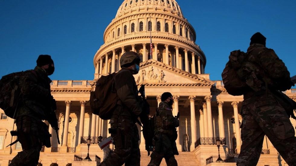 Amplían a más de 20 mil el número de soldados en Washington para la investidura de Biden - Foto de EFE