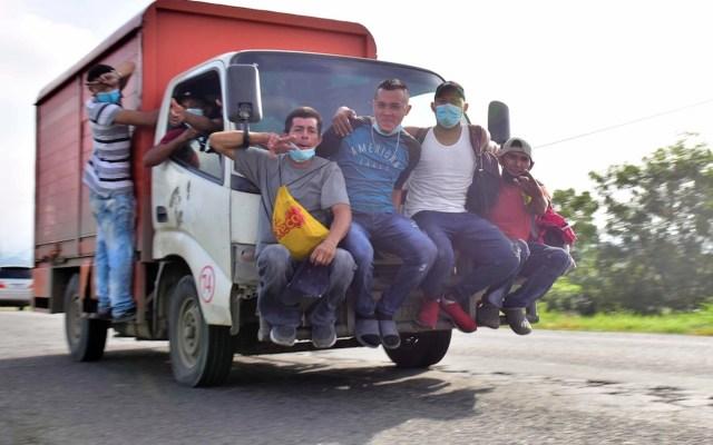 Caravana migrante avanza hacia México tras ingresar a Guatemala - Foto de EFE
