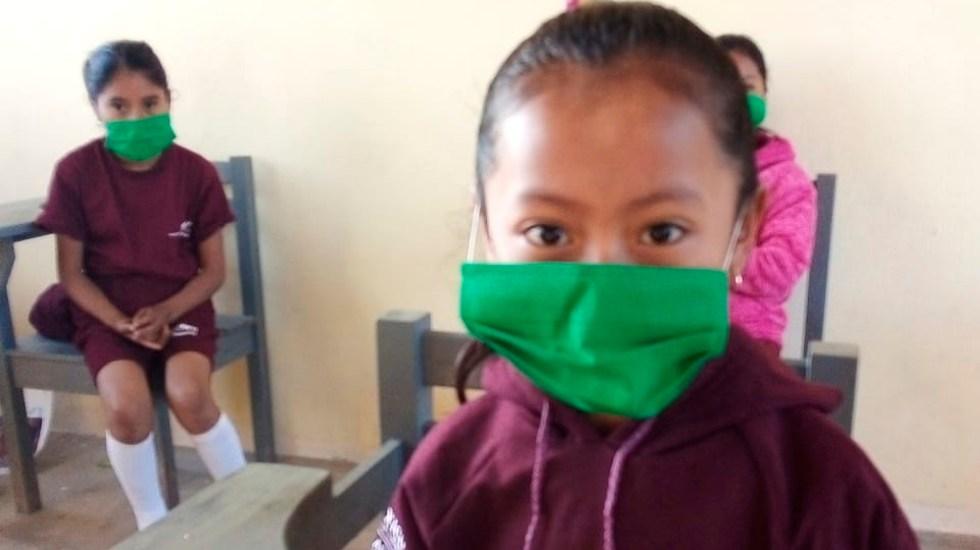 Escuelas en CDMX definirán regreso a clases presenciales con encuestas - Continúan clases presenciales en Chiapas, a pesar de repunte de COVID-19. Foto Twitter @SEP_mx