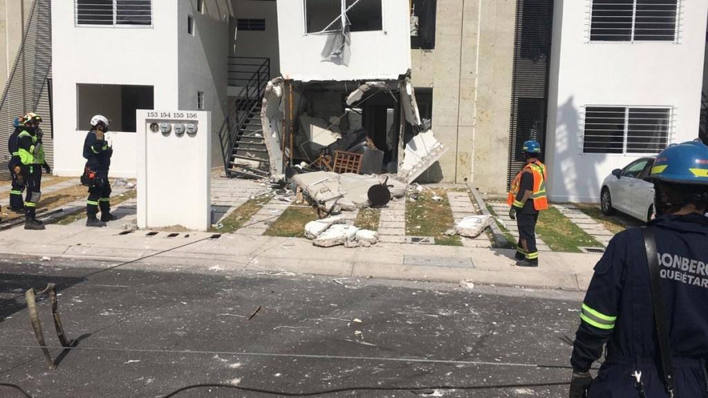 Explosión por acumulación de gas en Querétaro deja 10 heridos y 56 casas dañadas - Daños por explosión por acumulación de gas en Querétaro. Foto de @pcivilqro