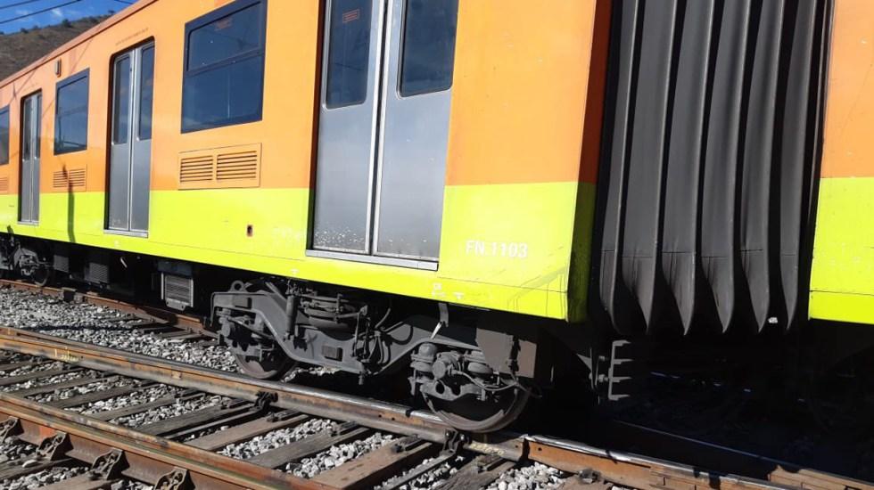 Descarrila tren en Línea A del Metro - Descarrilamiento de tren en Línea A del Metro. Foto de @FDoringCasar