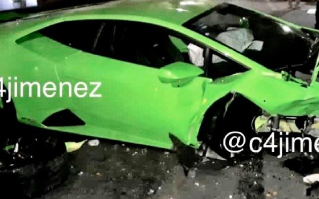 Identifican al verdadero dueño del Lamborghini destrozado en Polanco - Identifican al verdadero dueño del Lamborghini destrozado en Polanco. Foto Twitter @c4jimenez