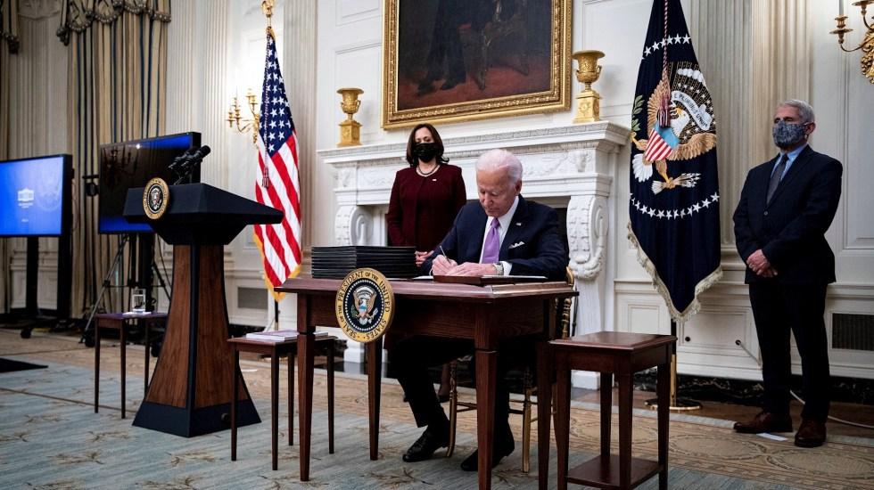 Habrá llamada este viernes entre López Obrador y Joe Biden - Foto de EFE/EPA/Al Drago / POOL.
