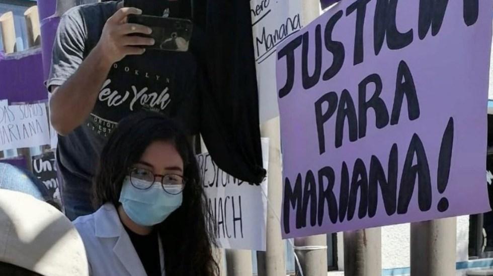 Médicos y estudiantes exigen justicia tras asesinato de Mariana Sánchez en Chiapas - Foto de @Hime48136711