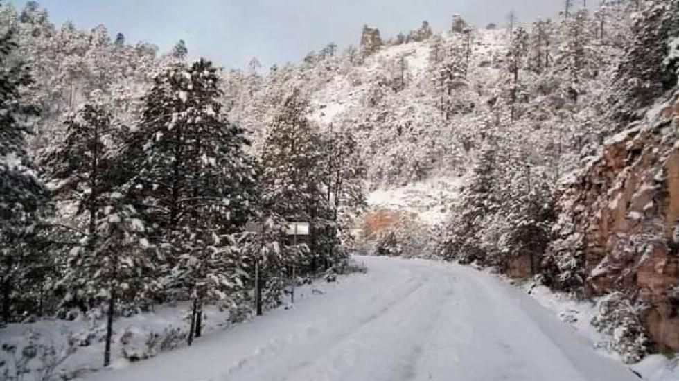 Pronostican entrada de nuevo frente frío sobre el noreste de México - Habrá caída de nieve y aguanieve en cimas montañosas del centro y oriente de México: SMN. Foto Twitter @CEPCDurango