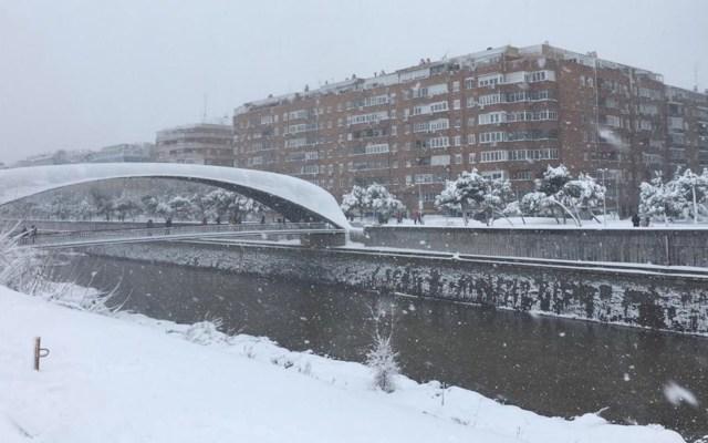 Madrid colapsa por histórica nevada que ya dejó un muerto - Foto cortesía Ángeles Martin/Madrid