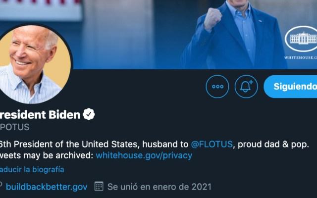 Twitter le da cuentas oficiales de la Casa Blanca a equipo de Joe Biden - Foto de @POTUS