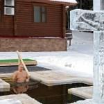 Putin se sumerge en agua helada para celebrar la Epifanía ortodoxa