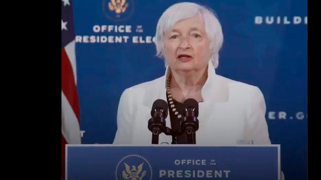 Senado de EE.UU. confirma a Janet Yellen como primera mujer secretaria del Tesoro - Senado de EE.UU. confirma a Janet Yellen como primera mujer secretaria del Tesoro. Foto Captura de pantalla