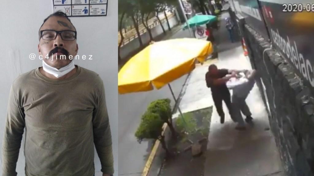 Detienen a '#LordBanqueta', sujeto captado agrediendo a transeúntes en la Álvaro Obregón - Álvaro Obregón golpes anciano