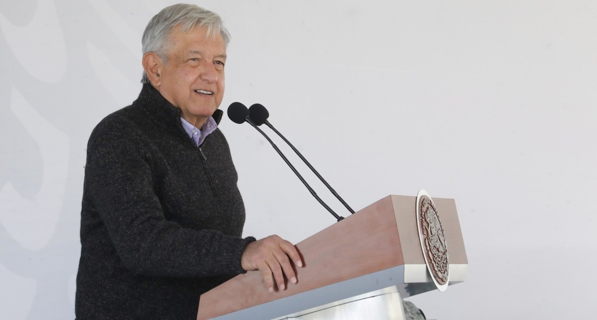 Président López Obrador à Tijuana, Baja California.  Photo de lopezobrador.org.mx.
