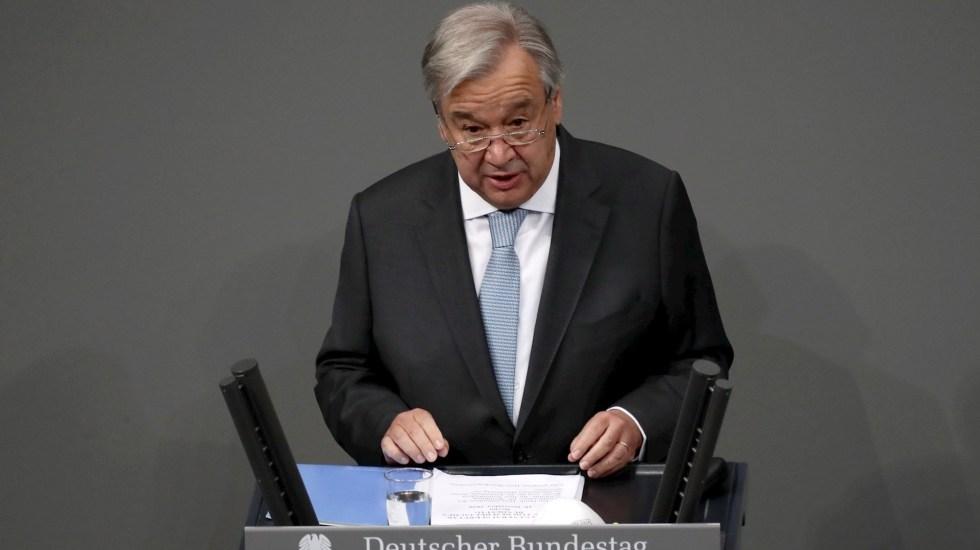 Si el COVID-19 se propaga como el fuego en el sur, no dejará de mutar, advierte la ONU - El secretario general de Naciones Unidas, António Guterres. Foto de EFE/ EPA/ HAYOUNG JEON/Archivo.