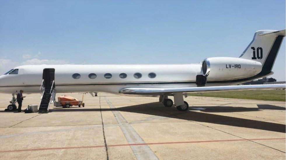 Este es el avión que Messi le rentó al presidente argentino Alberto Fernández - Fotos de La Nación