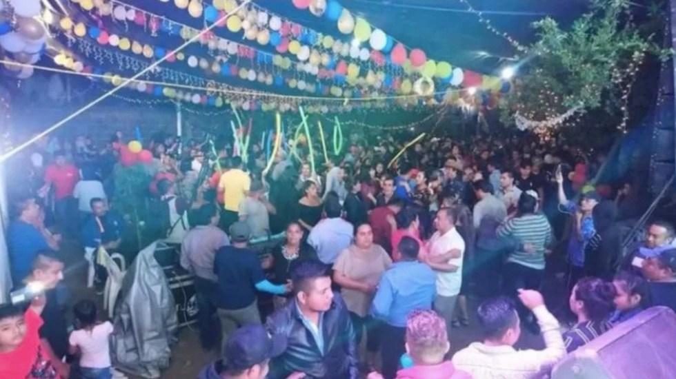 #Video Al menos 400 contagios de COVID-19 tras baile en Oaxaca - Captura de pantalla