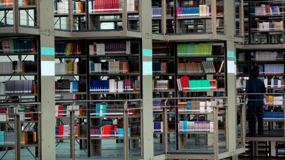 Ciudad de México abrirá bibliotecas y galerías tras baja de hospitalizados por COVID-19 - Vista general de la Biblioteca José Vasconcelos, en la Ciudad de México. Foto de EFE