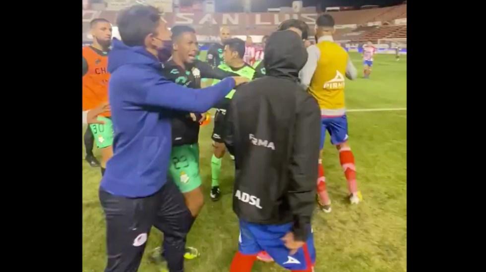 Revelan nuevos audios con insultos al futbolista Félix Torres en el San Luis vs. Santos - Foto de captura de pantalla