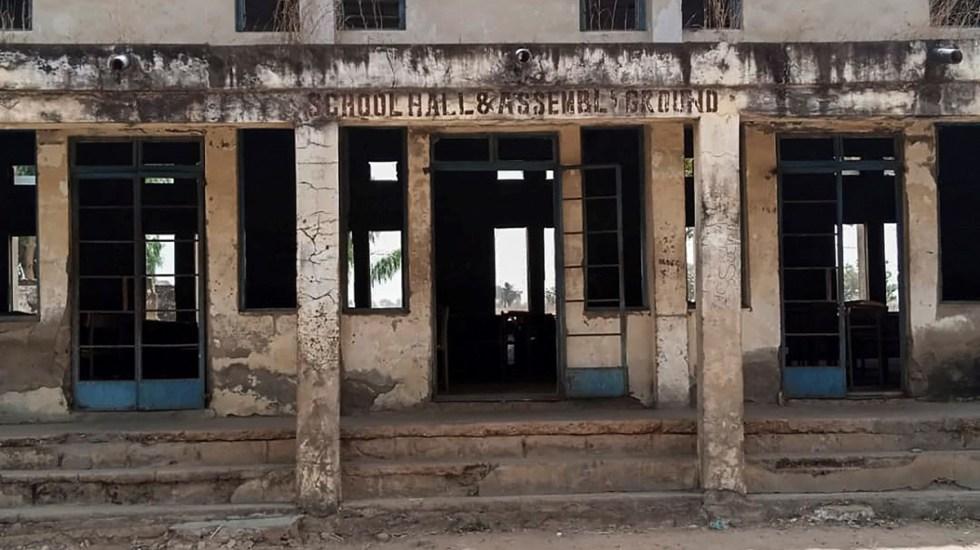 Secuestran a más de 300 alumnas en Nigeria; Policía activa operación de búsqueda - Escuela en Kagara, Nigeria, que fue sede de ataque. Foto de EFE