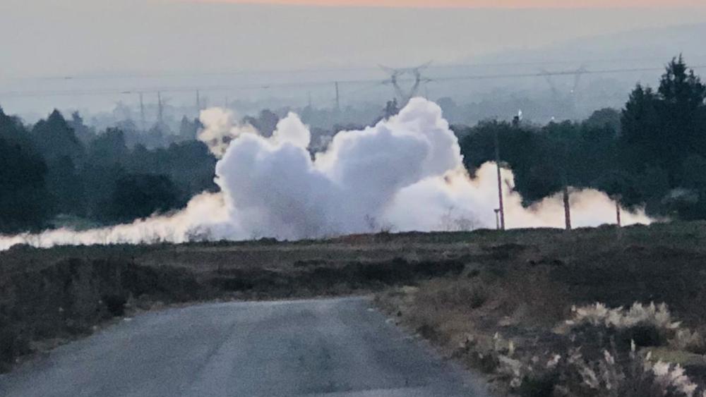 Desalojan a 300 personas por fuga de gas en Puebla - Foto de @OMAR_JIMENEZ77