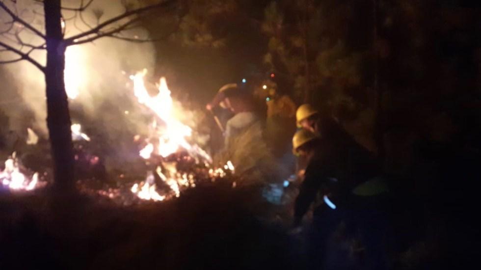 Controlan incendio en el Ajusco tras afectaciones en pastizales - Foto de SGIRPC CDMX