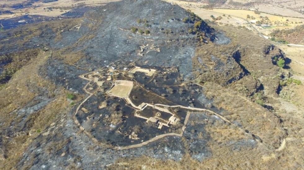 Zona Arqueológica Cerro del Teúl, Zacatecas, sin daños tras incendio, confirma INAH - Foto de INAH
