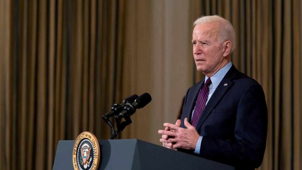 Biden levantará sanciones a Irán solo si deja de enriquecer uranio - Joe Biden en conferencia de prensa desde la Casa Blanca. Foto de EFE