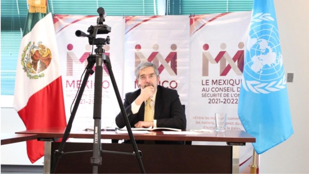 México plantea ante Consejo de Seguridad de la ONU discusión sobre interpretaciones de uso de la fuerza y legítima defensa - Foto de MexONu.