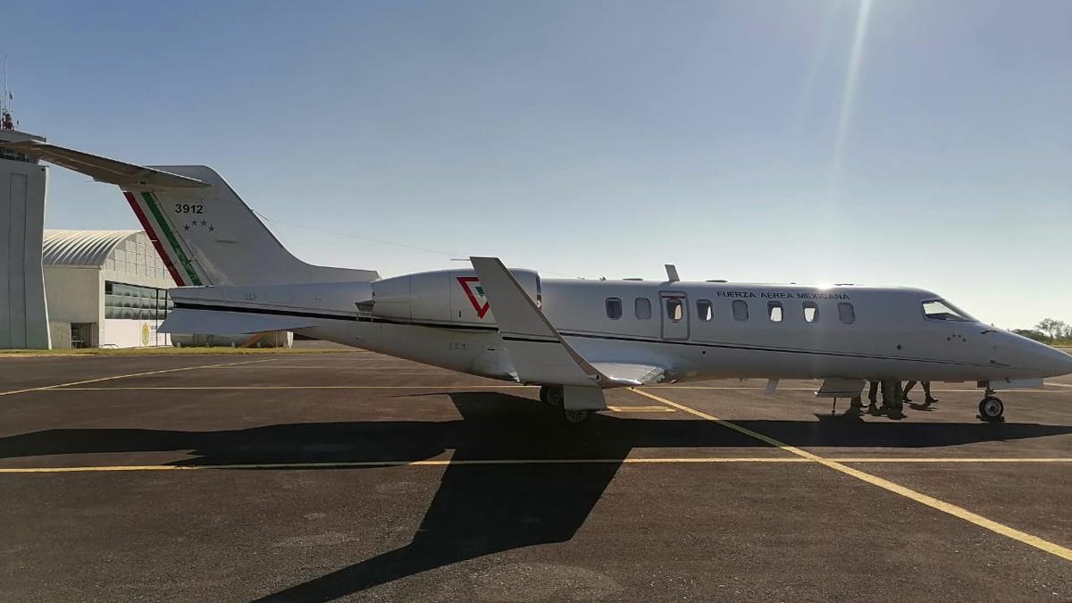 LearJet de la FAM antes de accidente aéreo