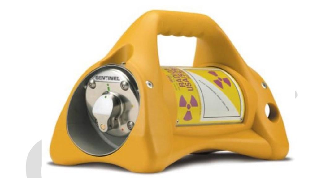 Roban fuente radiactiva en Guanajuato; activan alerta en ocho estados - Modelo de fuente radiactiva robada en Guanajuato. Foto de CNPC