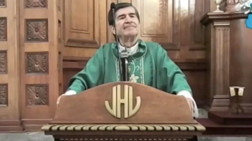 """#Video """"El famoso cubrebocas es no confiar en Dios"""", asegura obispo de Ciudad Victoria - Captura de pantalla"""