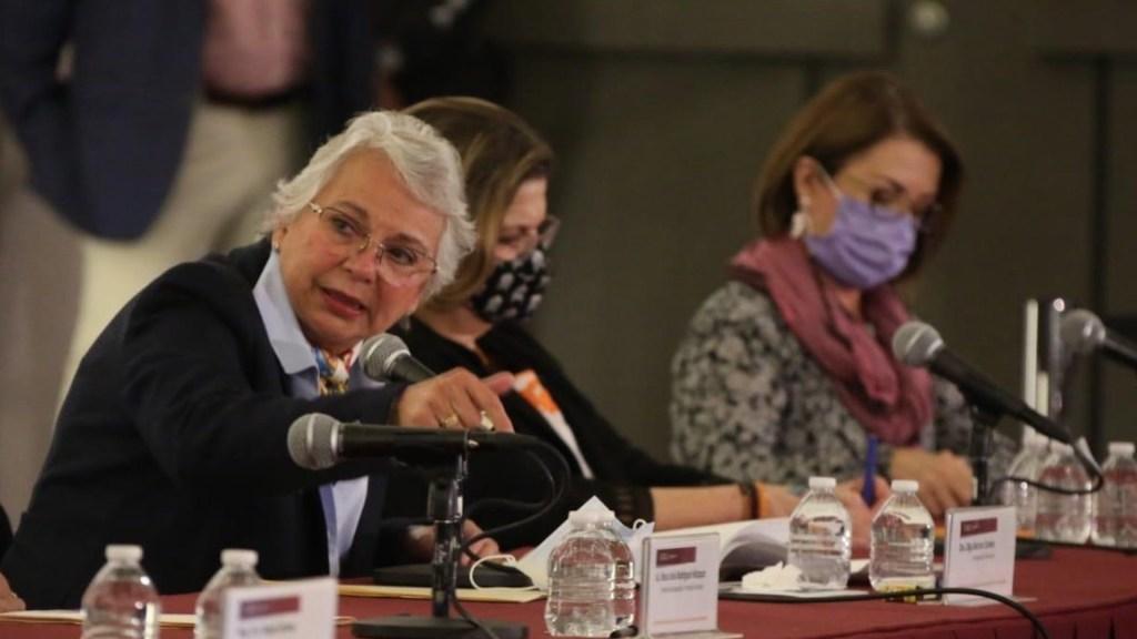 Candidatos con temas de violencia contra las mujeres no deberían participar en elecciones, advierte Sánchez Cordero - Foto de Twitter Olga Sánchez Cordero