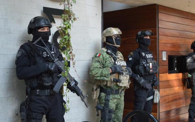 Decomisa SSC 62 kilos de cocaína en la colonia Narvarte - Operativo antidroga en la colonia Narvarte. Foto de @OHarfuch