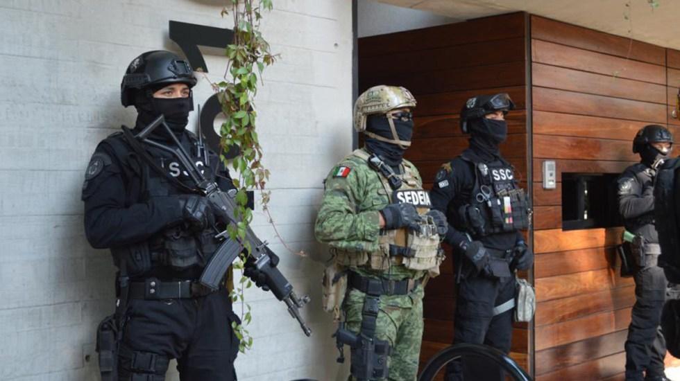 Vinculan a proceso a detenido en la Narvarte por posesión de cocaína - Operativo antidroga en la colonia Narvarte. Foto de @OHarfuch