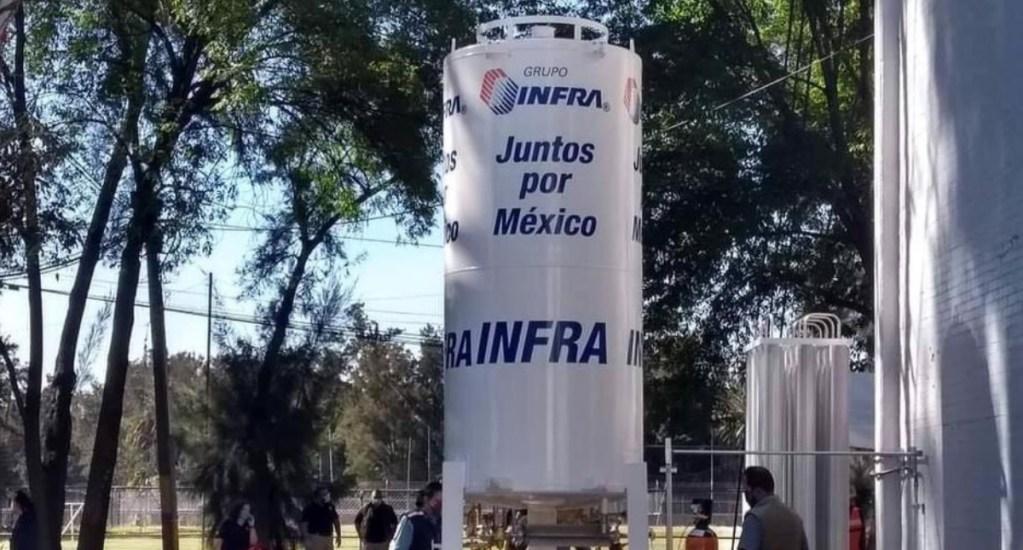Habilitan en Iztacalco centro de llenado de oxígeno medicinal - Oxígeno medicinal Ciudad de México tanque