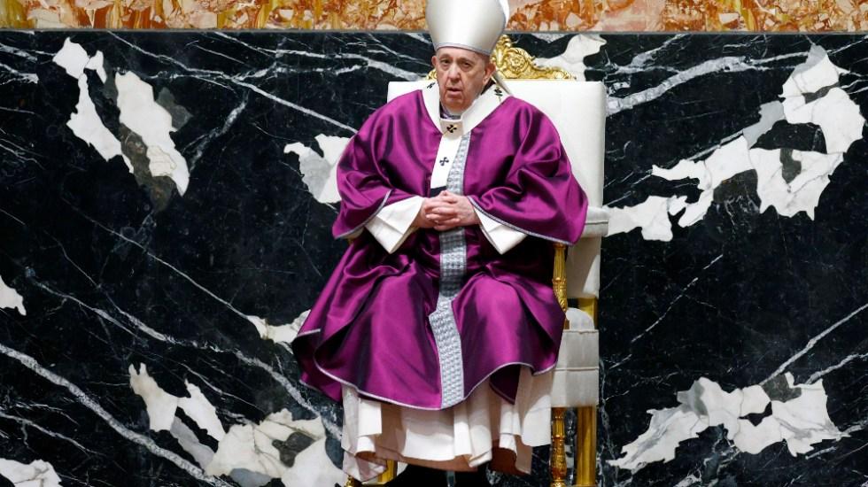 Papa Francisco celebró el Miércoles de Ceniza con misa con pocos fieles y nuevo rito - Foto de EFE