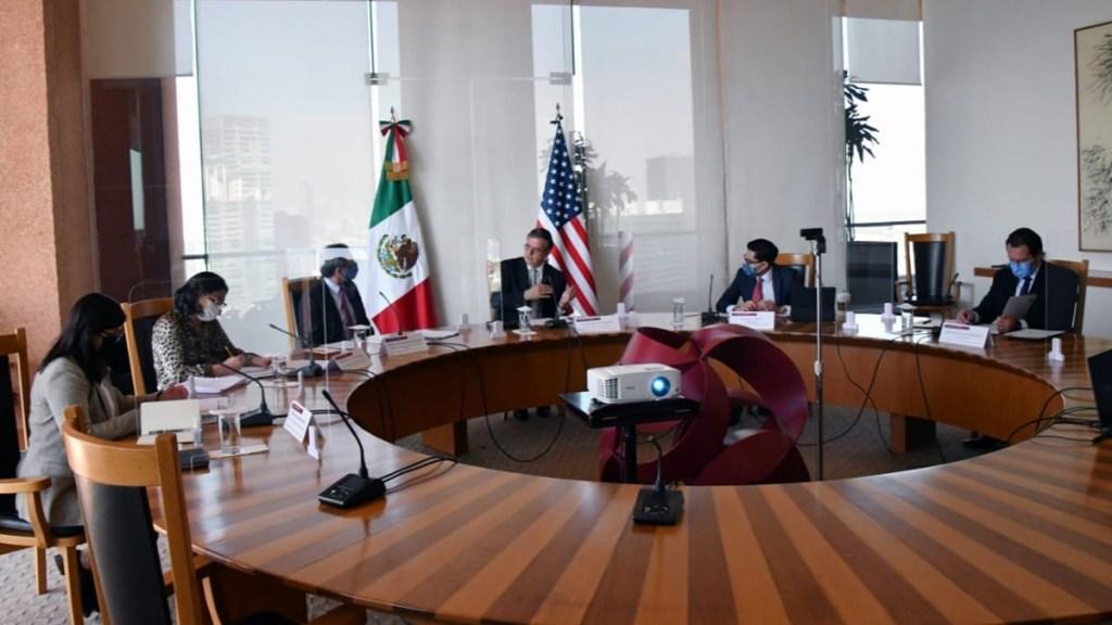 Ebrard reconoce iniciativas migratorias de EE.UU. en reunión con secretario de Estado - Reunión virtual de Marcelo Ebrard con el secretario de Estado de EE.UU. Foto de @SRE_mx