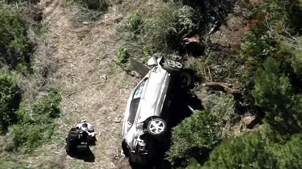 """Operan a Tiger Woods tras sufrir """"múltiples lesiones"""" en las piernas por accidente de tránsito - Foto de @NBCLA"""