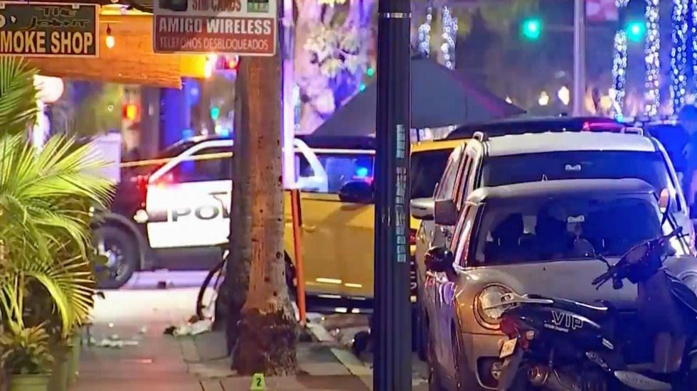 Tiroteo deja tres heridos en turística calle de Miami Beach