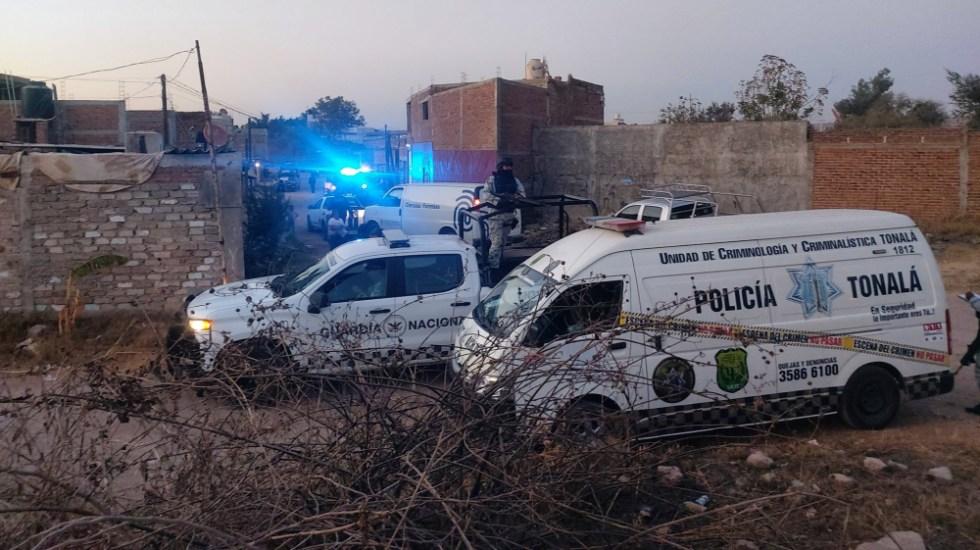 Balacera deja 11 muertos y dos heridos en Tonalá, Jalisco - Autoridades en Tonalá, Jalisco, tras balacera. Foto de @RoAlva93 / Archivo