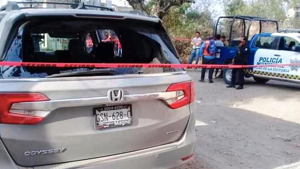 Suman 80 mil 6 homicidios dolosos en lo que va del sexenio - Escena del crimen acordonada por enfrentamiento en Guanajuato que dejó al menos seis muertos. Foto de EFE