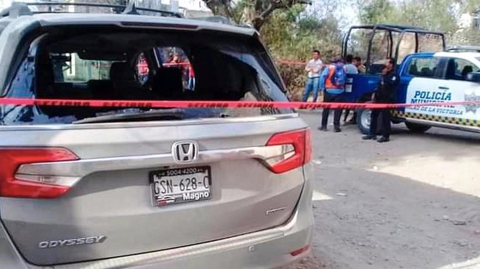 Suman 89 mil 128 homicidios dolosos en lo que va del sexenio - Escena del crimen acordonada por enfrentamiento en Guanajuato que dejó al menos seis muertos. Foto de EFE